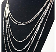 collana europea catena della lega più nappa (argento) (1 pz)
