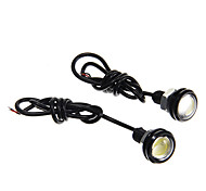 2W 200LM Car Eagle Eye Tail Lights 12V DC White Color 23mm(2Pcs)