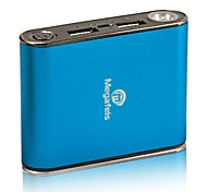 Megafeis® P160 4400mAh High Capacity Dual USB 5V 3A Powerbank External Battery Blue for(iphone6/6plus/5S/4S/5/Samsung)