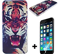 Royal Tiger Pattern Hard with Screen Protector Cover for iPhone 6