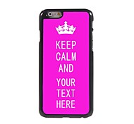 "Personalized Case Rose Keep Calm Design Metal Case for iPhone 6 (4.7"")"