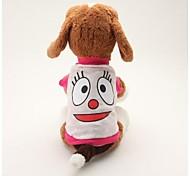 Собаки Футболка Синий / Розовый Одежда для собак Лето Мультфильмы Милые / На каждый день