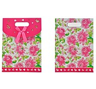 Lureme Pink  Flower Pattern Gift Bag(1Pc)