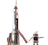 Tin Skyexpress Rocket and Astronaut Wind-Up Toys for Collection