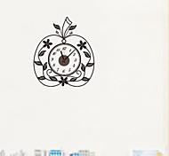 zooyoo® bricolaje reloj batería electrónica con pared reloj de pared en forma de manzana decoración etiqueta engomada casera de sala