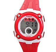 Children's PU Band Multifunction LED Sports Wrist Watch 50m Waterproof (Assorted Colors)
