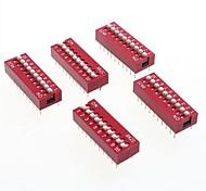 diy passo da 2,54 mm dip switch 20-pin 10 posizioni (5 pezzi confezione)