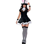 Costume Cosplay Clothing Include Rabbit Ears,Arm Band,Tie,Shirt,Dress