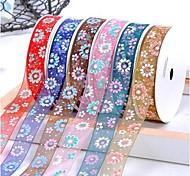 Stampa di filati colorati neve crisantemo nastro 3/8 di pollice ribbon- 25 metri per rotolo (più colori)