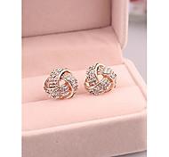 Fashion Cute Flower Alloy Clip,Stud Earrings for Women in Jewelry