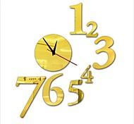 """30 """"h stile moderno nuovo acrilico numero semplice orologio da parete a specchio"""