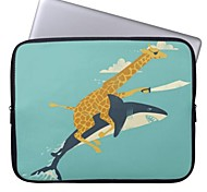 "Elonbo Giraffe and Sharks 15"" Laptop Neoprene Protective Sleeve Case for Macbook Pro Retina Dell HP Acer"