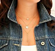 moda shixin® (círculo, i) aleación perla pequeña colgante de collar (oro) (1 unidad)