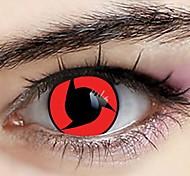 naruto uchiha itachi sharingan lentes de contato cosplay (1 par)