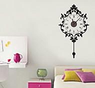 ZOOYOO® big pendulum Electronic battery timekeeper clock wall sticker home decor for you living room