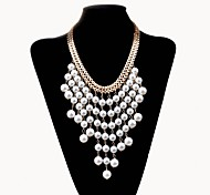 Lureme®European Style Exaggerated Horn Alloy Necklace