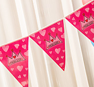 Pink Happy Birthday Flag Banner Party Accessory
