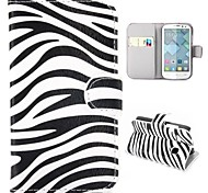 Zebra stripes Pattern Wallet Style Foldable Stand Leather Case for Alcatel One Touch Pop C3