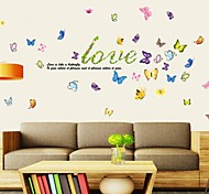 Doudouwo® Wall Stickers Wall Decals, Animals the Love and Beautiful Butterfly PVC Wall Stickers