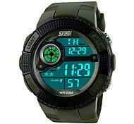 multifuncional relógio digital de pulso elástico desportivo dos homens (cores sortidas)