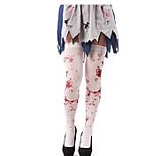 Horror Halloween Blood Dappled White Stockings