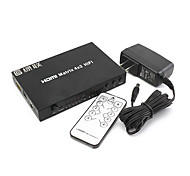 Green Connection High Speed HDMI V1.3 4X2 HDMI Matrix Switch(4 in 2 out) Support 3D 1080P
