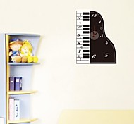 ZOOYOO® Electronic battery timekeeper DIY colorful piano shape with pendulum wall clock wall sticker home decor