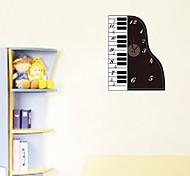zooyoo® elektronischen Batteriezeitnehmer diy bunten Klavierform mit Pendel-Wanduhr Wandaufkleberausgangsdekor