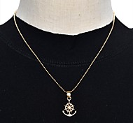 Polished Anchor Pendant Necklace