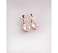Fashion Korea Cute Butterfly Crystal Alloy Imitation Diamond Stud Earrings for Women in Jewelry