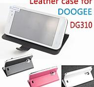 vendita calda cassa di cuoio dell'unità di elaborazione del cuoio di vibrazione 100% per dg310 doogee sinistra a destra smartphone a 3 colori