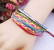 Multilayer Rainbow  Handmade Leather Bracelet