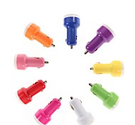 Car Cigarette Dual USB Car Charger for iPhone 4/4S/5/5S and Others (Assorted Colors)