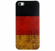 The Retro National Flag of Germany Pattern PC Hard Back Cover Case for iPhone 5/5S