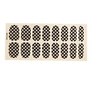 16PCS European Fashion Simple Black&White Glitter Grid Wedding Nail Art Stickers