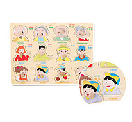 Family Member Embedded Puzzle Wooden Educational Toy
