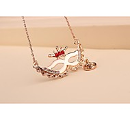 Fashion Korea Mask Rose Gold Plated Necklace for Women in Jewelry Gift