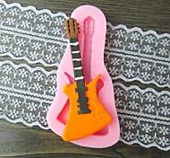 гитара помадкой торт шоколадный смолы глины конфеты силиконовые формы, l10.6m * w5.3cm * h0.9cm