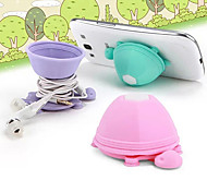 Sucker Cartoon Candy Color Earphone Cable Wire Cord Organizer Cable Winder