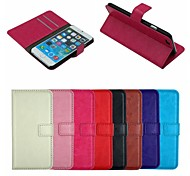 Crazy Horse Leather Wallet Full Body Case Flip Leather Stand Cover with Card Holder for iPhone 6 (Assorted Colors)