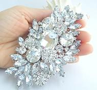 lega dell'annata delle donne con il rhinestone libero fiore di cristallo monili di nozze sposa spilla bouquet
