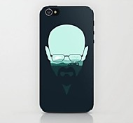 Mann mit Brille Muster Hard Case für iPhone 4 / 4s