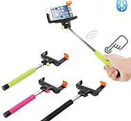 Extendable Handheld Wireless Bluetooth Shutter Selfie Monopod Stick + Holder for IOS and Android Mobile Phone Black
