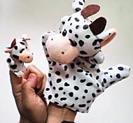 brinquedo fantoches crianças luva jogo zoo mão de pelúcia linda vaca