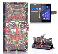 Fashion Silk Pattern Fashion Silk Pattern Wallet Style Magnetic Flip Stand PC+PU Leather Case for Sony Xperia Z2 L50W