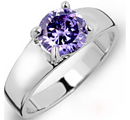 Luxurious Women's Crystal Inlaid Stainless Steel Rings