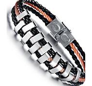 z&x® la mode la main des hommes tissé bracelets en cuir PU