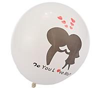 giorno bianco Palloncini corteggiamento di San Valentino - set di 24
