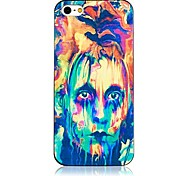 Colorful Face Pattern Black Frame Back Case for iPhone 5/5S