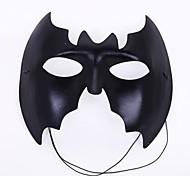 máscara preta da festa batman pvc halloween
